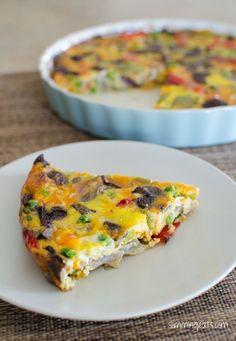Roasted Vegetable Frittata | Slimming Eats - Slimming World Recipes