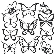 Ideas Tattoo Butterfly Outline White Ink For 2019 Easy Butterfly Drawing, Butterfly Outline, Butterfly Design, Butterfly Sketch, Tribal Butterfly, White Butterfly, Simple Butterfly Tattoo, Butterfly Stencil, Cartoon Butterfly