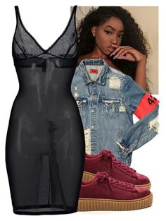 """""""Pretty&thick issa two piece!"""" by trilltommie ❤ liked on Polyvore featuring AMIRI and Wolford"""