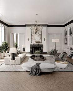 A Modern Living Room Inspiration Home Living Room, Interior Design Living Room, Living Room Designs, Luxury Living Rooms, Modern Living Rooms, Living Room Lounge, Dining Room, Living Room Inspiration, Home Decor Inspiration