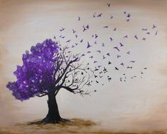 FUNDRAISER: Alzheimer's Awareness. Paint and Sip party being held on 3/5/15 from 6-8pm at Adams Ale House in Adams MA. OPEN TO THE PUBLIC. Reserve your seat today at www.berkshirepaintandsip.com and learn how to paint this Inspirational Purple Bird Tree.