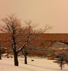 The Flume in the snow, Carlsbad, NM