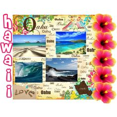 Oahu Hawaii scrapbook, created by mellysue418 on Polyvore