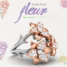 #fleur #floral #flower #ring #jewellery #diamonds #caratlane