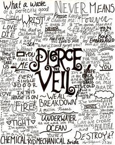 pierce the veil wallpaper lyrics - Google Search