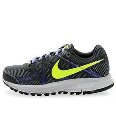 NIKE LUNARFLY+ 3 TRAIL 525035-075 WOMENS Grey Volt Hiking Running Shoes Size 5.5