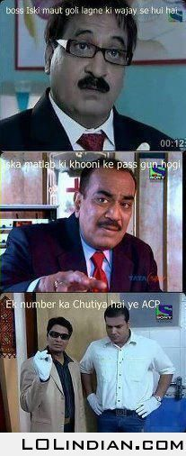 ACP Pradyumna at his best in Funny School Memes, Crazy Funny Memes, Funny Facts, Haha Funny, Lame Jokes, Sarcastic Jokes, Funny Qoutes, Funny Relatable Memes, Laughing Colors