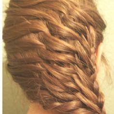 Fishbone braid weave :)