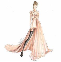 fashion illustration by nichols Dress Design Drawing, Dress Design Sketches, Fashion Design Sketchbook, Dress Drawing, Fashion Design Drawings, Fashion Sketches, Fashion Figure Drawing, Fashion Drawing Dresses, Drawing Fashion