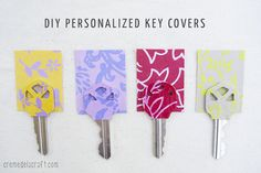 DIY: Personalized Key Covers from Scrapbook Paper