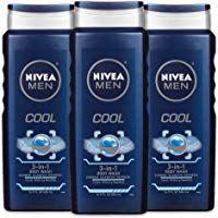 Nivea Men Cool 3 In 1 Body Wash Shower Shampoo And Refresh With Cooling Icy Menthol 16 9 Fl Oz Bottle Pack Of 3 Body Wash Nivea Shower Gel