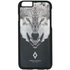 Marcelo Burlon County Of Milan wolf iPhone 6 case ($67) ❤ liked on Polyvore featuring men's fashion, men's accessories, men's tech accessories and black