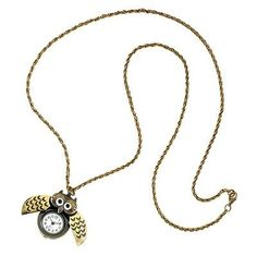 TICK-TOCK OWL NECKLACE