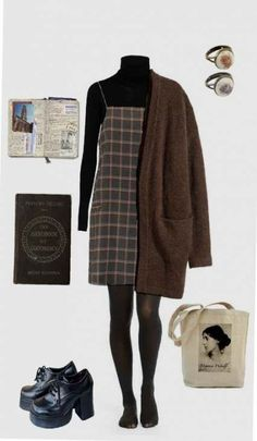 Vintage Fashion Outfits Girls Ideas For 2019 Hipster Outfits, Mode Outfits, Grunge Outfits, Dress Outfits, Fall Outfits, Casual Outfits, Dress Shoes, Dresses, 90s Fashion