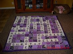 The Rag Quilt that I have made to raffle off at our Relay for Life.  Excited how it turned out.