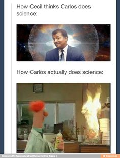 I'm now picturing Carlos and his Team of Scientists running around making meep sounds like Beeker.