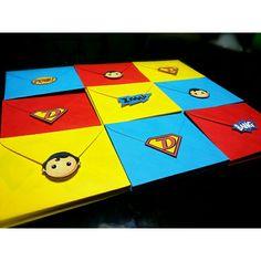 Envelopes for my Superman Invitations ^O^