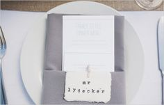 wedding table setting ideas hand stamped place cards