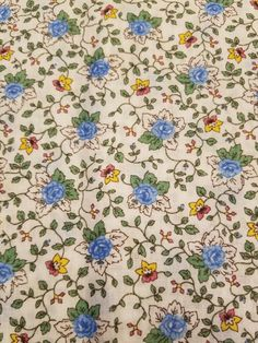 Vintage Multicolor Floral Cotton Fabric 24 x44  Pretty Floral yardage.  I do not see any damage.   Please see photos for actual condition.   https://nemb.ly/p/ryD5HDRDe Happily published via Nembol