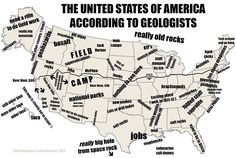 """mapsontheweb: """" whatisgeology: """" Accurate. """" The United States of America according to geologists. """""""