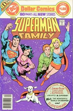 Superman Family #182, April 1977, cover by Curt Swan and Neal Adams.