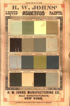 H. W. Johns' liquid asbestos paint. (c 1900)