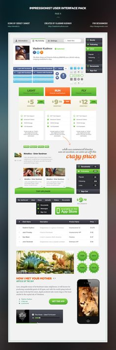 Icons, Web, References, Mobile, Modules, Tabs, Interface