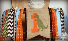 Hey, I found this really awesome Etsy listing at https://www.etsy.com/listing/265092646/dinosaur-birthday-high-chair-highchair
