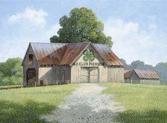 4-H Barn Print--Jim Harrison Country Art, Low Country, Jim Harrison, 4 H Club, Milk The Cow, Dream Barn, Old Barns, Beautiful Family, South Carolina