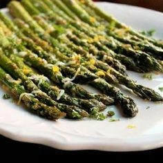 Broiled Asparagus with Lemon & Parmesan