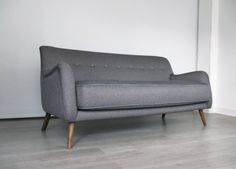 grey 50s sofa chair - Google Search