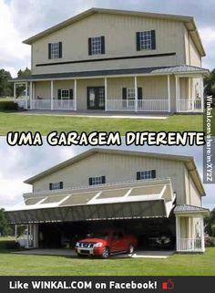 Garagem diferente