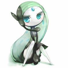 Meloetta is a mystical creature that heals other pokemon. Fan Art Pokemon, Pokemon Pins, Play Pokemon, Cool Pokemon, Kawaii, Tous Les Pokemon, Photo Pokémon, Manga, Mythical Pokemon