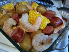 I couldn't resist sharing this accidental recipe I made today.....it's accidental because I had intended on using these ingredients for a recipe I saw on Pinterest, kabobs with sausage, shrimp, cor...