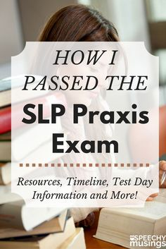 Resources, an example timeline, test day information, study tips and more for passing the SLP praxis exam for speech therapy! A must read for those in graduate school! From Speechy Musings.