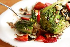 Grilled Salad with Strawberry Balsamic