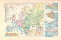 Ethnographic map of Europe, 1881