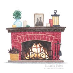 Cozy winter illustration clipart with fireplace Winter Illustration, House Illustration, Christmas Illustration, Illustrations, Fireplace Drawing, Fireplace Art, Winter Crafts For Toddlers, Winter Art, Cozy Winter