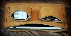 Saddleback Leather Co. gadget pouches: Rugged boot leather gadget pouches with a 100 year warranty