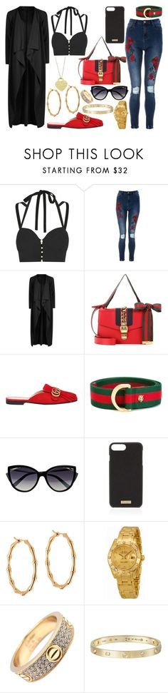 """Mall Day!!!"" by that-one-basic-girl ❤ liked on Polyvore featuring Jonathan Simkhai, Boohoo, Gucci, La Perla, Henri Bendel, Rolex, Cartier and Tiffany & Co."
