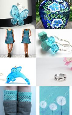 Spring Blues by Stephanie Allred on Etsy--Pinned with TreasuryPin.com Blues, Spring, Etsy, Color, Colour, Colors