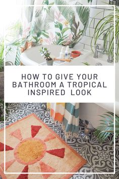 Tips on how to give your bathroom a summer refresh using the tropical trend with these 7 key buys - Maxine Brady from We Love Home Tropical Bathroom Decor, Tropical Decor, Tropical Prints, Interior Design Advice, Interior Stylist, Thing 1, Perfect Plants, Tropical Design, Painted Floors