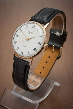 Luch 2209 (Poljot) Men's Mechanical Wrist Watch Gold plated classic ultra-slim. #Poljot #Dress