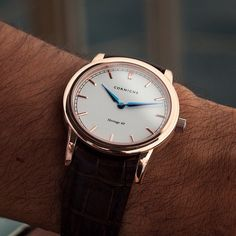 The rose gold Heritage 40 from @Cornichewatches
