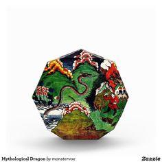 Mythological Dragon Acrylic Award #Mythology #Mythological #Dragon #Creature #Art #Acrylic #Award
