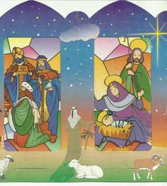 Otra Imagen del Nacimiento del Niño Dios en farol de papel