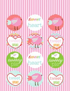 FREE Valentine's Day Cupcake Toppers! Free Valentine's Day Printables via Party Box Design!