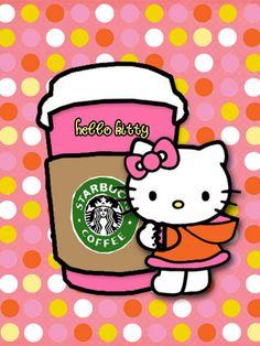 Hello Kitty likes Starbucks!
