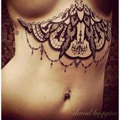 51 Under Breast Tattoos For Women | Amazing Tattoo Ideas ❤ liked on Polyvore featuring accessories, body art and tattoos