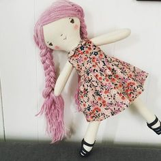 Make your own cloth doll! Wee Wonderfuls Make-Along Doll pattern subscription www.weewonderfuls.com/store